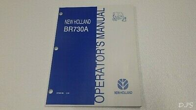 New Holland Br730a Round Baler Operators Manual Dn178