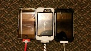 2 iPod 4's and an iPod 2!! w/ 3 Extra Cases!! iPod 2 is SOLD!!