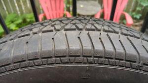 4 pneus d'été P215/70R15 steel belted radial