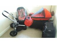 Quinny Buzz pushchair carry cot package ((LOOK))