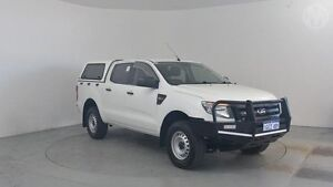 2013 Ford Ranger PX XL 3.2 (4x4) Cool White 6 Speed Automatic Dual Cab Utility Perth Airport Belmont Area Preview