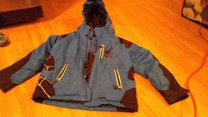2 manteaux et pantalon d'hiver pour gars, marque Spyder