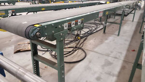 Assorted Used Hytrol belted conveyors, 3ft – 41 ft in length