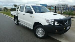 2014 Toyota Hilux KUN26R MY14 SR Double Cab Glacier White 5 Speed Automatic Cab Chassis Bassendean Bassendean Area Preview