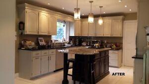 Professional Kitchen cabinet Refinishing *Spray Painting Stratford Kitchener Area image 1