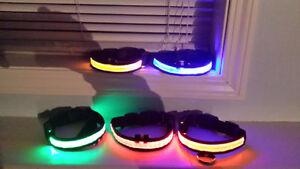 LED Pet Collars, Light Up Flashing,Adjustable