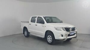 2012 Toyota Hilux GGN25R MY12 SR Double Cab Glacier White 5 Speed Automatic Utility Perth Airport Belmont Area Preview