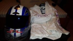 Women's Motorcycle Helmet and Riding Jacket