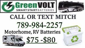 RV, motorhome Batteries $75-$80