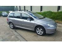 PEUGEOT 307 SW HARD TO FIND 7 SEATER LONG MOT TO FEB 2018 STARTS AND DRIVES GREAT BARGAIN £595