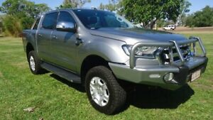 2016 Ford Ranger PX MkII XLT Double Cab Silver 6 Speed Sports Automatic Utility Winnellie Darwin City Preview