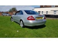 for sale Mercedes CLK 270 automatic full V5 5 months MOT nice condition inside outside