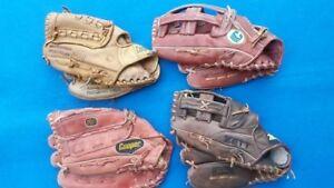 Cooper Zett 4 left handed baseball fielder's gloves right glove