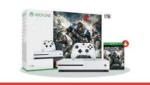 Xbox one S 1 TB with gears of war 4 still in box