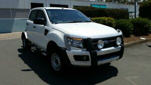 2013 Ford Ranger PX XL Double Cab Cool White 6 Speed Sports Automatic Cab Chassis
