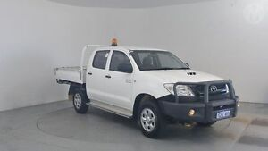 2011 Toyota Hilux KUN26R MY11 Upg SR (4x4) Glacier White 5 Speed Manual Dual Cab Pick-up Perth Airport Belmont Area Preview