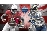 NFL Rams v Cardinals, 2 x Tickets, 22.10.17, Face Value, Twickenham