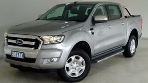 2015 Ford Ranger PX MkII XLT Double Cab Grey 6 Speed Manual Utility Hobart CBD Hobart City Preview