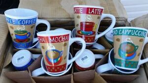 BEAUTIFUL COFFEE MOCHA LATTE CAPPUCCINO. MUGS NEW IN THE BOX