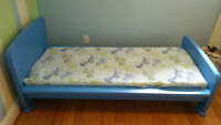 Toddler`s bed with mattress in excellent condition
