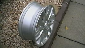 Toyota 5 stud 16 inch; alloy wheel, mint condition,used as spare only.....£20 for quick sale.