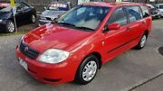 2003 Toyota Corolla ZZE122R Ascent Red 4 Speed Automatic Wagon Maidstone Maribyrnong Area Preview