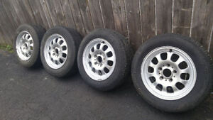 BMW 15 inch rims with tires !!!