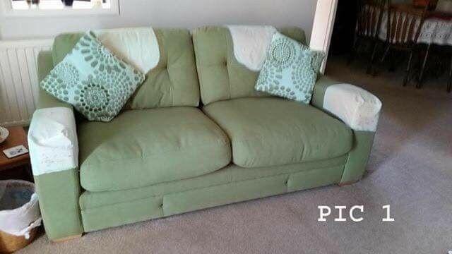Green 3 seater settee