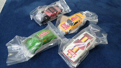 1990 Hot Wheels Getty Oil Promo  4 Cars Range Rover Porsche Bmw Vw Golf Nos New