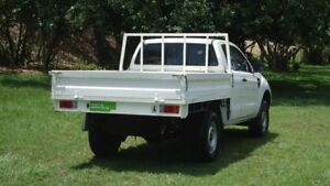 2012 Ford Ranger PX XL Super Cab 4x2 Hi-Rider White 6 Speed Sports Automatic Cab Chassis