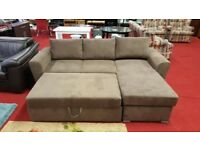 chenille fabric stanford 3 seater fabric sofabed with storage
