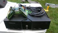 xbox, controller , video and power cable or best offer