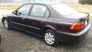 2000 Honda Civic SE Sedan1.6L Automatic CERTIFIED CLEAN VEHICLE