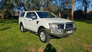 2013 Ford Ranger PX XLT 3.2 Hi-Rider (4x2) White 6 Speed Automatic Crew Cab Pickup Melrose Park Mitcham Area Preview