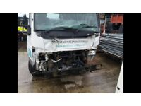 Mitsibushi canter 7C15 flatbed damaged repairable manual gearbox direct company