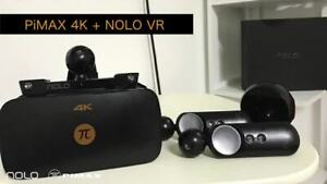 Pimax 4K VR Headset w/ Nolo VR Controllers.
