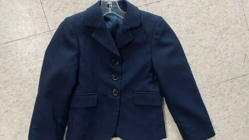 BEAUFORT Navy Pinstripe Youth HUNT COAT Size 6 *VGC*  Polyester Blend
