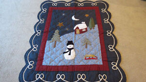 Winter / Christmas Quilt Throw
