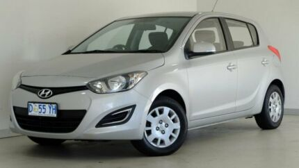 2014 Hyundai i20 PB MY15 Active Silver 4 Speed Automatic Hatchback Hobart CBD Hobart City Preview