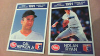 POST CEREAL 1991 BASEBALL TRADING CARDS