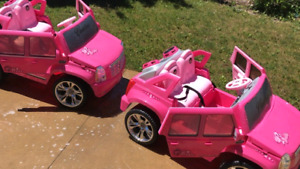 Power wheels  pink Cadillac
