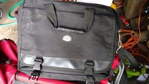 Black fabric briefcase