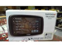 TOMTOM TRUCKER 6000 SAT NAV, BOXED WITH CHARGER, FULL 6 MONTHS WARRANTY