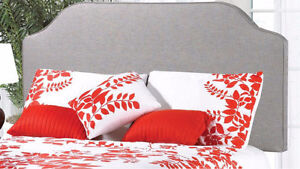 UPHOLSTERED FABRIC CAMEL HEADBOARD Made in CANADA