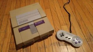 SNES w/ one controller and cables