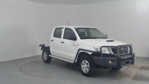 2012 Toyota Hilux KUN26R MY12 SR Double Cab Glacier White 4 Speed Automatic Utility Perth Airport Belmont Area Preview