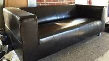 Black leather look IKEA couch 2.5 seater Darlington Mundaring Area Preview