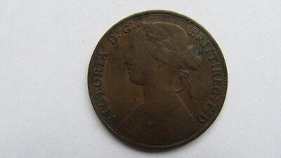 1861 VICTORIA PENNY  CIRCULATED GOOD CONDITION