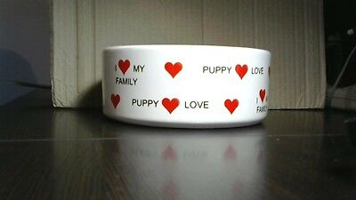 Customized Ceramic Dog Bowls personalized with sayings