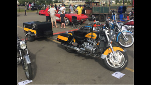 2000 Honda Valkyrie Motorcycle and trailer